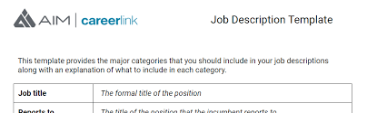 set your aim how to write a job description template included