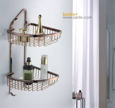 Storage For Small Bathroom by Corner Basket Shower Shelf For Small Bathroom Storage