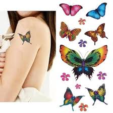 temporary assortment 72 butterfly tattoos