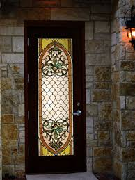 exterior glass door inserts stained glass for doors