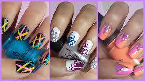 nail art colorful chevron nail art best ideas for girls stunning