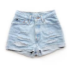 light wash denim shorts get high waisted shop high waisted shorts and vintage clothing