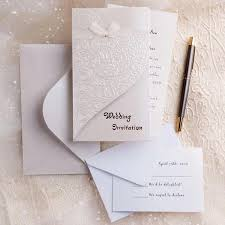 wedding invitations on a budget silver and white creates the modern wedding theme chic