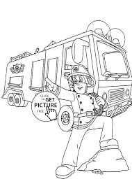 firetruck coloring pages kids printable free coloing 4kids