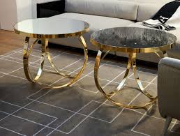 Round Glass And Metal Coffee Table Coffee Tables Cool Gold Coffee Tables Ideas Gold Drum Coffee