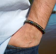 leather wrap bracelet men images Men 39 s leather wrap bracelets gemstones onsra designer bracelets jpg