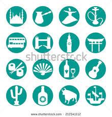 turkey travel symbols icon set stock vector 213526480