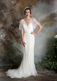 flowing wedding dresses picture of an airy and flowing wedding dress with a v