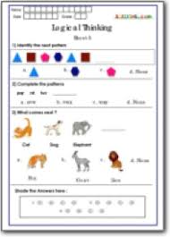 worksheets for class 1 logical thinking worksheets for class 1 best for olympiad