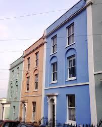 painted houses beautiful bristol colourful painted houses yellow feather