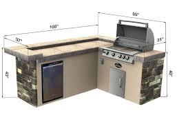 select series triple crown outdoor kitchen island u2013 leisure depot