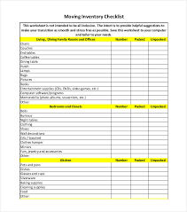 Hotel Inventory Spreadsheet by Inventory Checklist Template 22 Free Word Pdf Documents