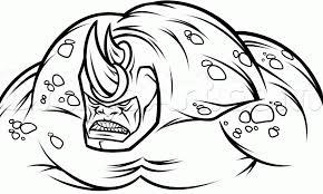 draw rhino amazing spiderman 2 step step drawing