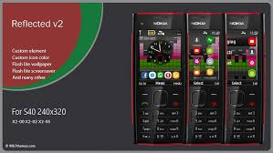 themes for nokia c2 touch and type reflected theme nokia x2 00 x2 02 x2 05 240x320 asha 206 themes