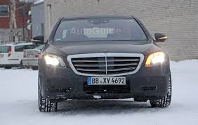 future mercedes s class mercedes s class spied inside and out with new e class tech