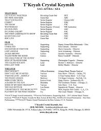 Actors Cover Letter Musical Theater Resume Sample Resume For Your Job Application
