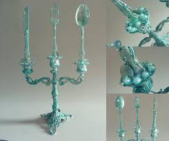 the little mermaid candelabra with dinglehopper door artofmarijke