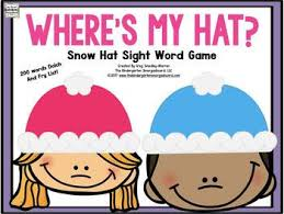 winter sight words where s my hat the kindergarten smorgasboard