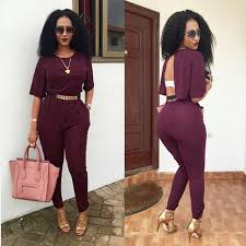 stylish jumpsuits s jumpsuit cut out back leisure wear half sleeved