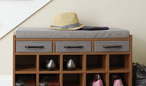 Entryway Shoe Rack Astounding Small Upholstered Hall Bench Tags Small Upholstered