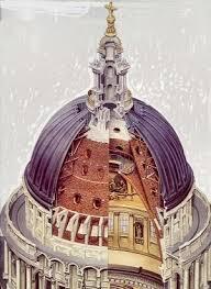 cupola di firenze brunelleschi s dome santa fiore florence cutaway