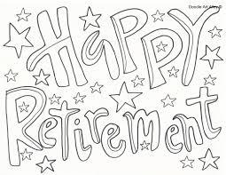 retirement coloring pages doodle art alley