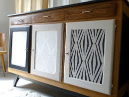 Buffet enfilade vintage scandinave bois noir et blanc
