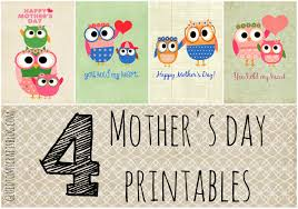 free owl themed mother u0027s day printables glued to my crafts