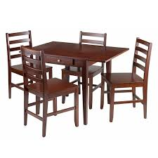 winsome trading alamo 3 piece round dining table set with ladder