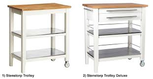 kitchen islands and trolleys stenstorp kitchen trolley deluxe ikea hackers ikea hackers