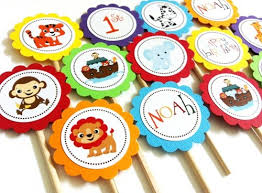 noah ark baby shower noah s ark cupcake toppers for birthday or baby shower party