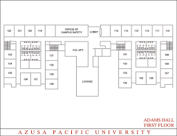 Dorm Room Floor Plan Adams Hall Office Of Housing Services Azusa Pacific University