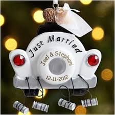 personalized newlywed ornament bliss living