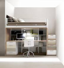 lit bureau combiné lit simple contemporain pour enfant unisexe combiné 309
