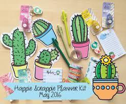 succulent kits sneak peek of happie scrappie planner kit cactus themed may