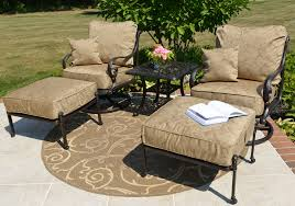 patio chairs with ottomans amalia 2 person luxury cast aluminum
