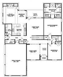 Four Bedroom House Floor Plans by 4 Bedroom 1 Story House Plans