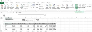 How To Use A Excel Spreadsheet Outline Excel Data In Excel 2013 Tutorial And Instructions