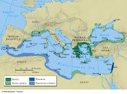 World Map Greece by Greek And Phoenician Colonies 550 Bc Map Collection