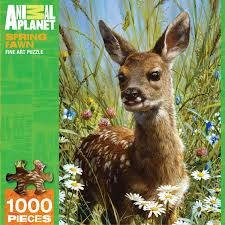 spring fawn jigsaw puzzle puzzlewarehouse com