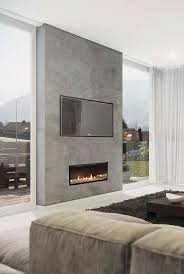 bedroom beautiful cool fireplace tv wall linear fireplace