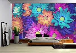 Flower Decoration For Bedroom Charming Flowers Wall Mural 3d Wallpaper Natural Scenery Photo