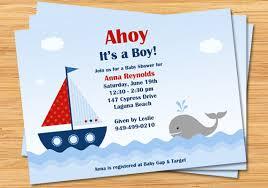 nautical baby shower invitations nautical ba shower invitation ahoy its a boy boat nautical baby