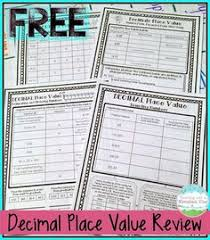 free fifth grade decimals printable can be used as daily math
