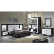 model chambre chambre à coucher model kristel noir blanc achat vente chambre