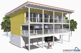 ch98 raised beach house plan beach house plans