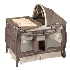 cribs with changing table and storage amazon com baby trend deluxe nursery center hudson baby