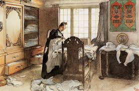 at the linen cupboard watercolour by carl larsson 1853 1919 sweden
