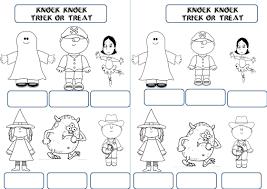 anglais paperboard sur halloween meg and mog klassewerk
