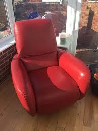 Natuzzi Red Leather Chair Natuzzi Genny Leather Recliner Chair In Gillingham Kent Gumtree